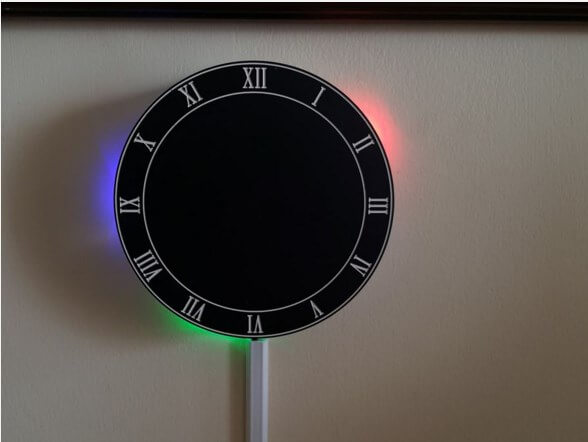 The LED Reflection Clock: A DIY Smart Clock