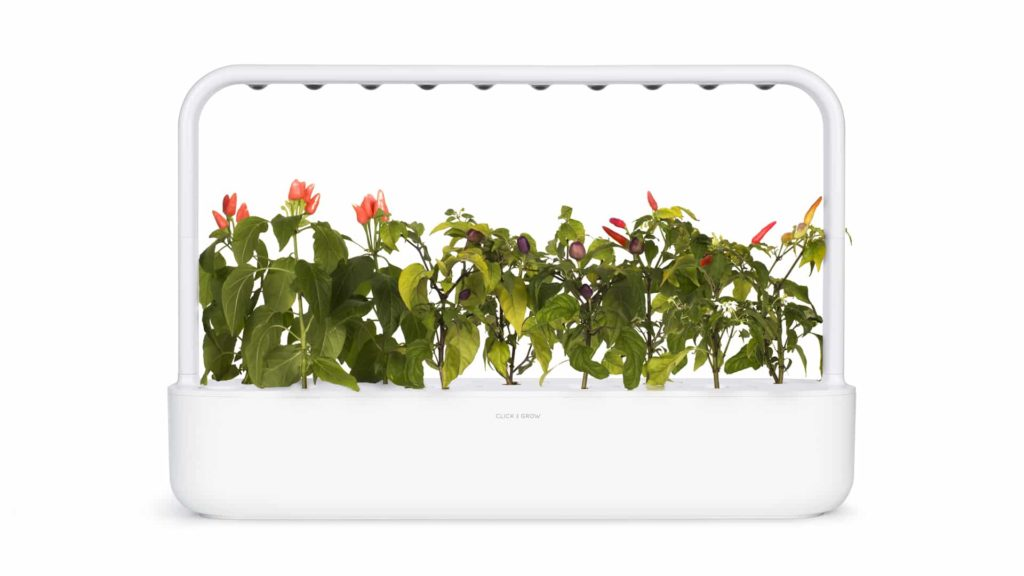 smart garden with LED and sensors