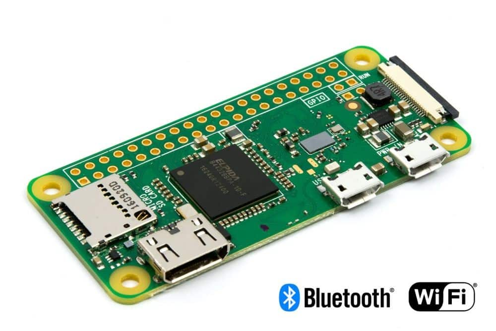 Pi Zero W, supporting Wi-Fi, priced at $10.