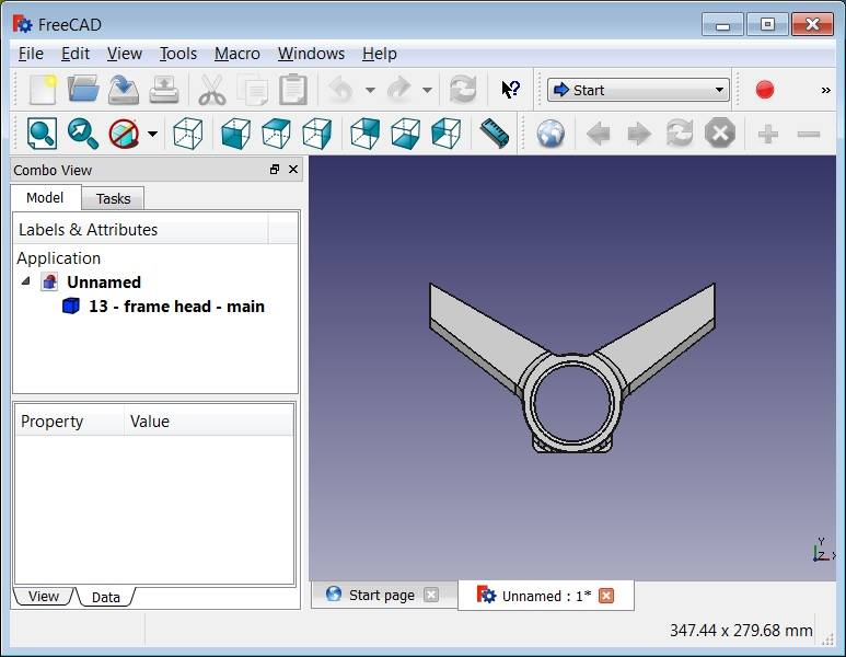 Use FreeCAD to open and browse mechanical part designs