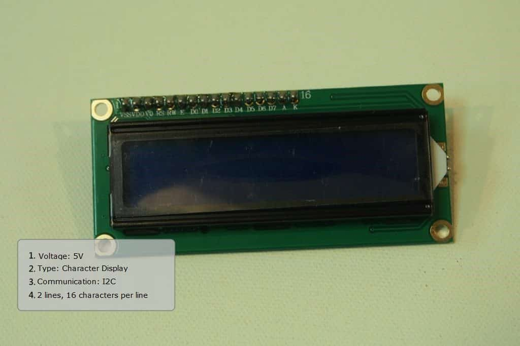 Front end of the LCD Module