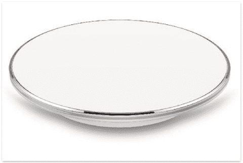 FEATURES • Dimensions: 106mm (D) x 11mm (T) • Type: Wireless Charging Pad • Standard: Single Coil WPC Qi v1.2 • Input: 5VDC (Micro USB) • Wireless Output: >5W • Eciency: >70% • Safety: Foreign Object Detection & Thermal Shutdown Function • Smart Feature: Smart LED Notification • Wireless Charging Distance: 5 ~ 8mm