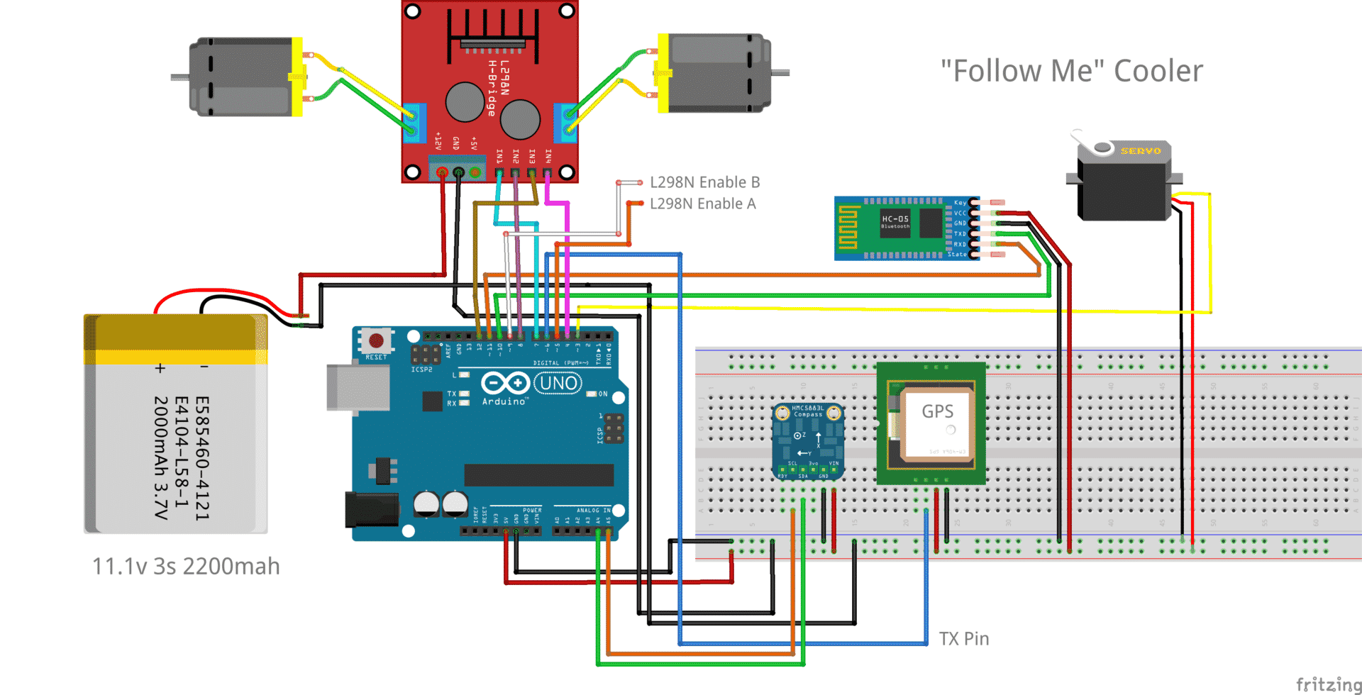 Use Arduino To Build Autonomous Cooler Controlled By