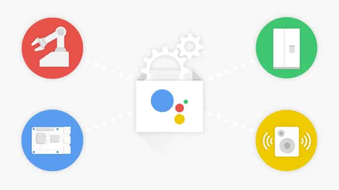 Voice UI for Makers The Google Assistant SDK, launched in April 27, 2017, allows developers to run the Google Assistant SDK on their own hardware prototypes. The intention is that any smart hardware can provide Google Assistant functions. The Actions on Google Assistant work like Alexa Skills and have an open API, so developers can create voice commands and actions for their device. Source: https://arstechnica.com/gadgets/2017/04/the-google-assistant-opens-up-to-third-party-hardware-launches-sdk/