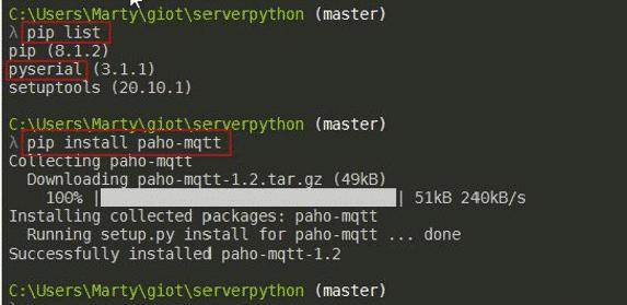 "Add ""$pip install paho-mqtt"""