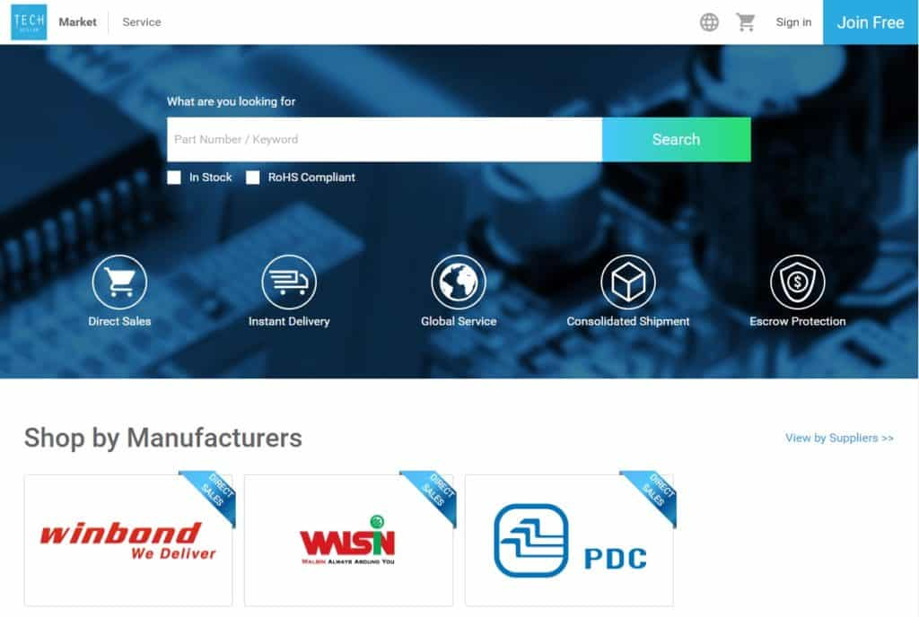 The TechDesign eMarket is the best pace to search for quality components and suppliers.