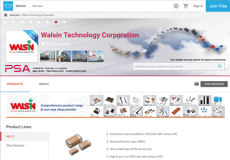 Walsin eStore on TechDesign