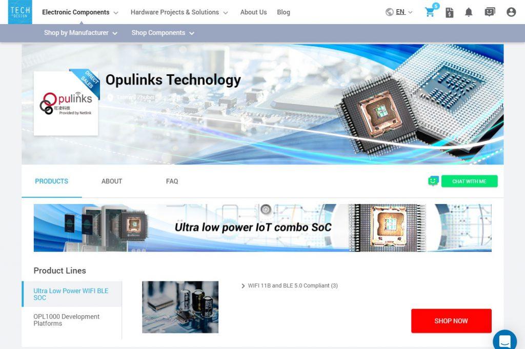 Opulinks eStore on TechDesign