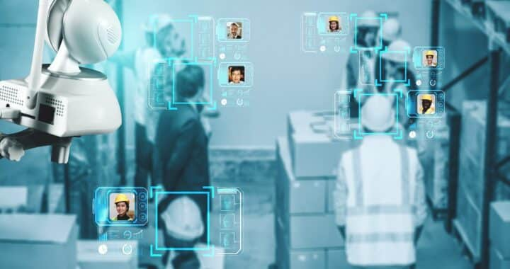 Facial,Recognition,Technology,For,Industry,Worker,To,Access,Machine,Control